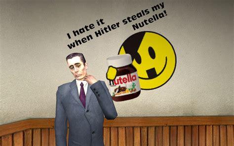 hitler steals  nutella gamebanana sprays funny