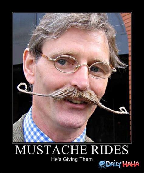 Funny Mustache Memes - mustache rides guy