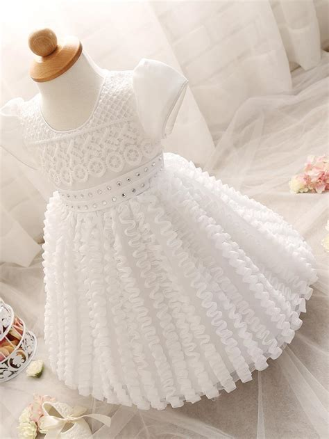 baby girl dress newborn white christening gown  year girl