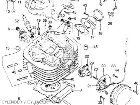 1973 Honda Xl175 Wiring Diagram For A by Honda Xl175 K1 1974 Usa Parts List Partsmanual Partsfiche