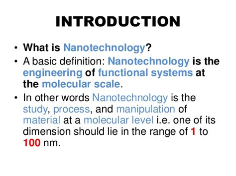 Nanotechnology In Industries