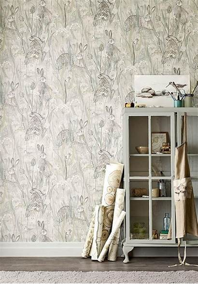 Sanderson Dune Hares Wallpapers Bay Thistle Selling