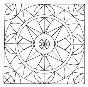 Geometric Coloring Pages (5) - Coloring Kids
