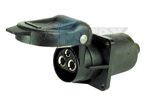 4 pin l socket s 56377 3 pin plastic aux socket 4 bolt fixing female