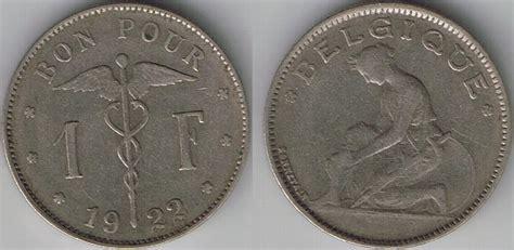 1922 Belgium Franc (belgique Variety) Auction At Coin