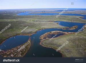Aerial Photos Of Arctic Tundra Wetlands For Backgrounds