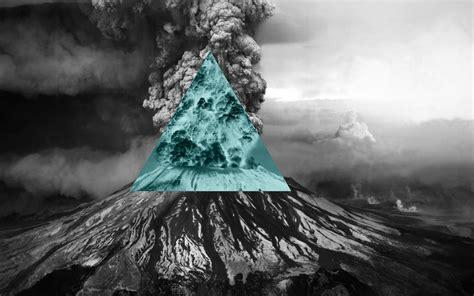 Illuminati Background Nature Polyscape Inverted Volcano Illuminati
