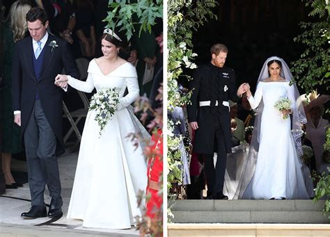 Princess Eugenie Vs Meghan Markle Wedding Dress