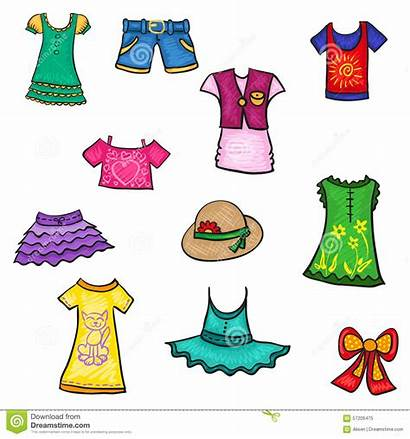 Clothes Clipart Season Kinderkleidung Vestiti Sketch Bambini