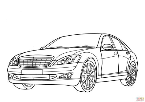 Mercedes-benz S-class Coloring Page