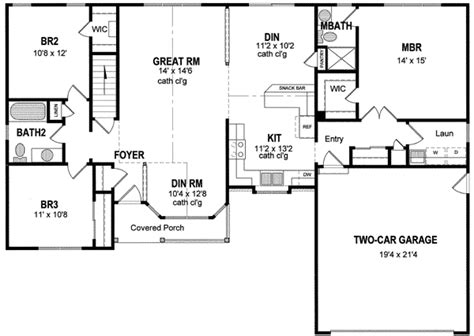 single level home plans single level house plans one story house plans great room house simple 1 bedroom house plans