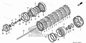 Honda Motorcycle 2006 Oem Parts Diagram For Clutch