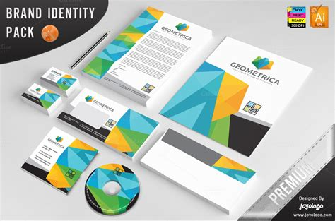 Company Stationery Template Pages by 3d Geometric Polygonal Identity Temp Stationery