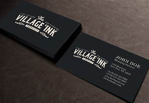 Masculine upmarket business card design for jonny for Tattoo shop business cards