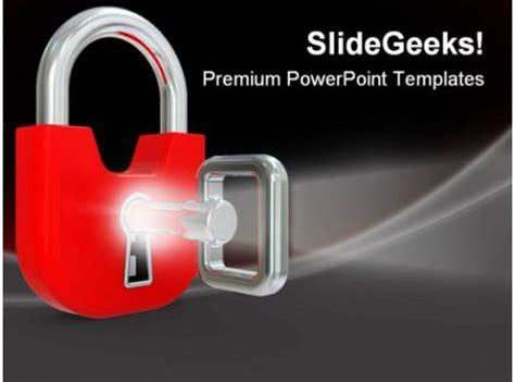 lock  key security powerpoint templates  powerpoint