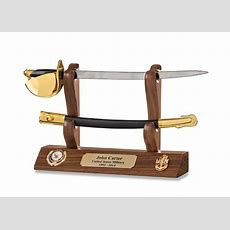 Navy Cpo Cutlass Letter Opener And Hardwood Display