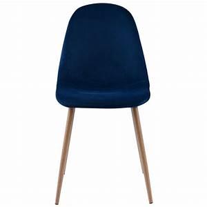 Chaise Velours Bleu : chaise olga en velours bleu roi lot de 2 koya design ~ Teatrodelosmanantiales.com Idées de Décoration