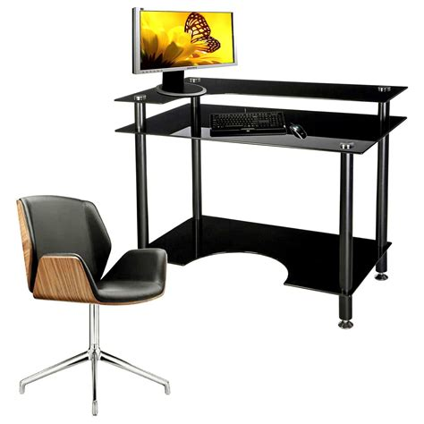 black glass computer desk black glass computer desk for home office