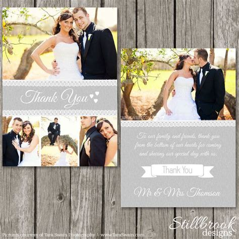 wedding thank you card photoshop template 11 best wedding save the date stillbrook designs images
