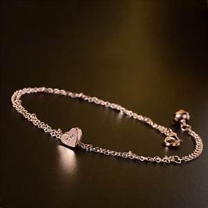 shuangr 2016 new heart love letter bracelets on leg the With letter anklets