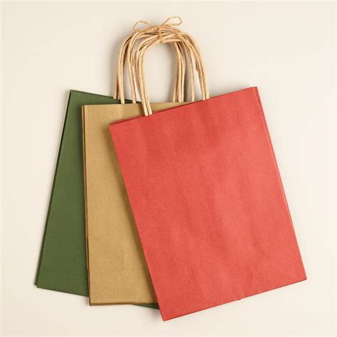 medium kraft holiday gift bags 3 pack world market