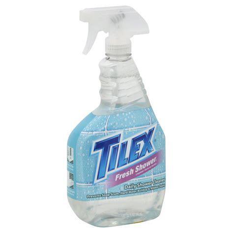 tilex bathroom cleaner with tilex daily shower cleaner fresh shower 32 fl oz 1 qt