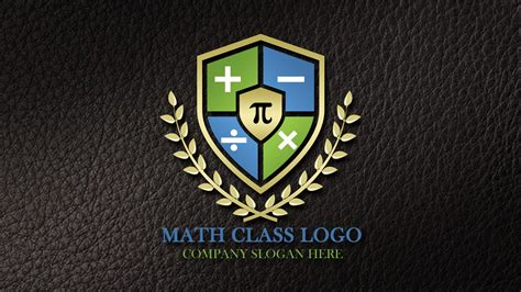math tutorial logo design  psd template graphicsfamily