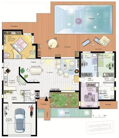 plan de maison plain pied 4 chambres gratuit les 25 meilleures idées de la catégorie plans de maison