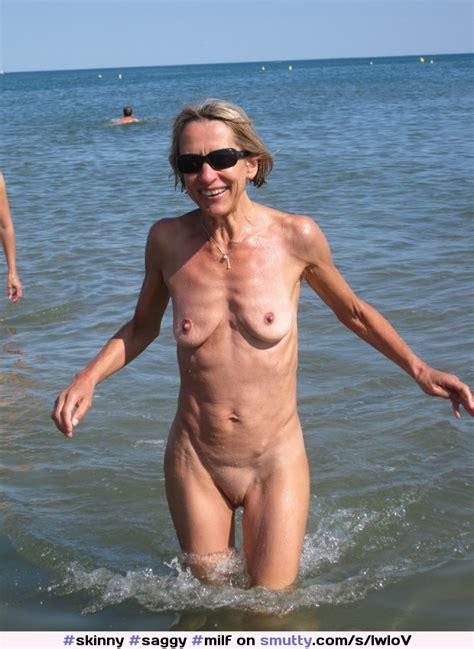 Skinny Saggy Milf Elderly Beach Blonde Shaved