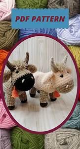 Crochet Pattern Bull Crocheted Pattern Simple Instructions