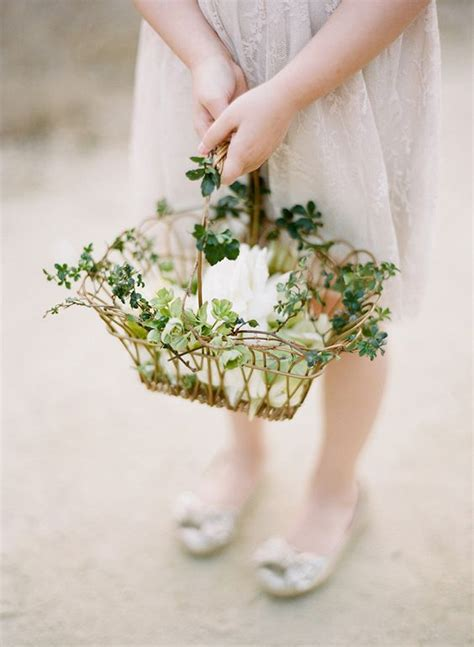 Picture Of Vintage Flower Girl Basket From Vine And Greenery