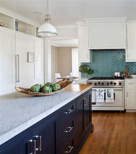 Kitchen Backsplash Turquoise by Turquoise Herringbone Tile Backsplash Transitional Kitchen
