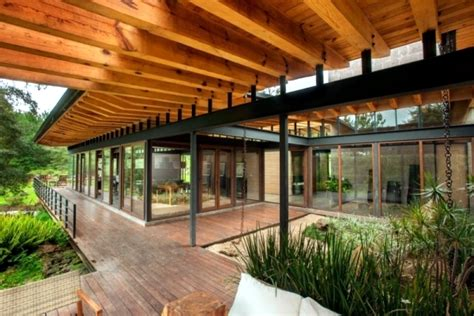 Home Design 7.0 : Flat Roof Modern Wooden House In A Mexican Forest