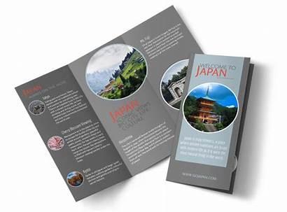 Brochure Travel Fold Japan Tri Template Brochures