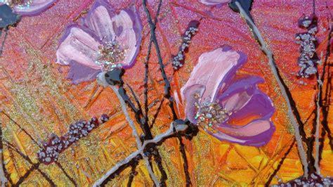 Fiori lilla al tramonto Vendita Quadri Online Quadri moderni Quadri astratti Quadri
