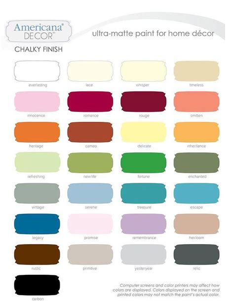 many americana decor chalky finish paint colors are now