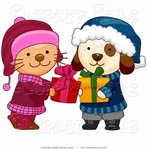 Winter Holiday Clip Art Free | ... Cute Puppy and Kitten ...