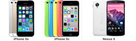 5 vs 5s vs 5c iphone 5s vs iphone 5c vs nexus 5 ecco il confronto sulle