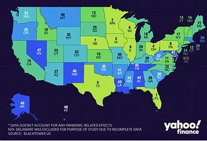 States Worst Retirement Map
