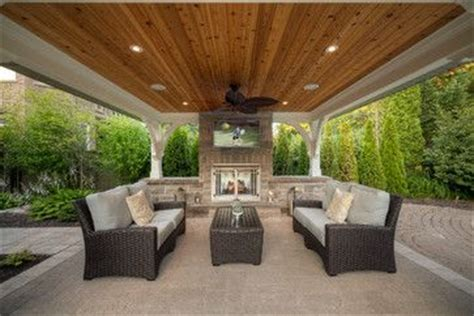 covered patio fireplace tv home