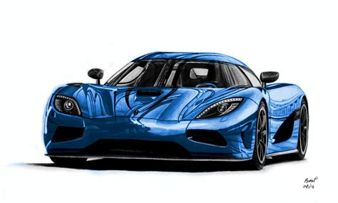 koenigsegg agera blue koenigsegg agera r drawing blue version by pavee12120 on