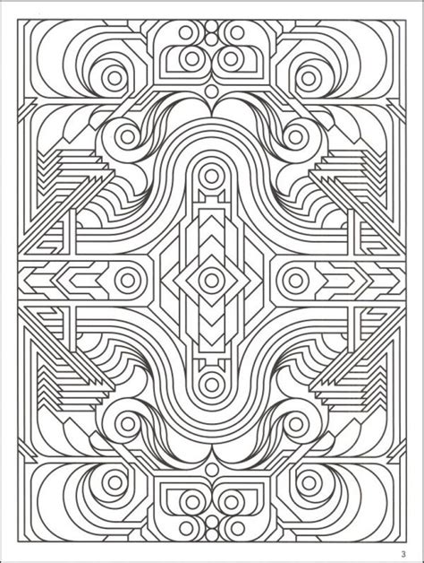 highly detailed printable coloring page  geometric pattern  adults abstract coloring