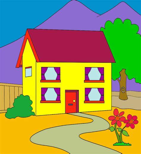 mewarnai gambar rumah kebanjiran gambar mewarnai rumah