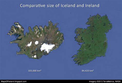 iceland dimensions comparative size of iceland and ireland source maps on the web