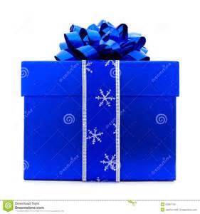 blue christmas gift box stock photo image of party celebration 21997740