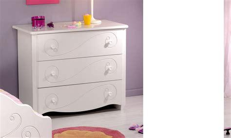 commode pour chambre commode chambre enfant blanc laque 3 tiroirs mathilde