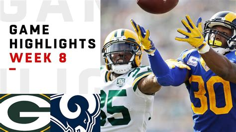 packers  rams week  highlights nfl  youtube