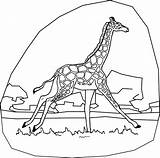 Giraffe Coloring Giraff Printable Animal Bestcoloringpagesforkids Word Stuff sketch template