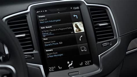volvo xc sensus touchscreen infotainment review