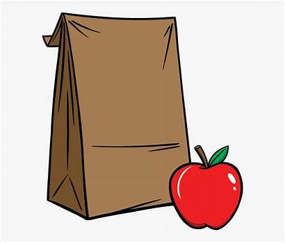 Lunch Clipart Sack Bag Brown Grab Clip